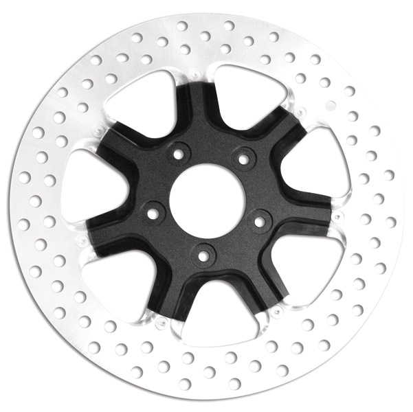 Roland Sands Design Morris Black Ops Two-Piece Rear Brake Rotor, 11.5