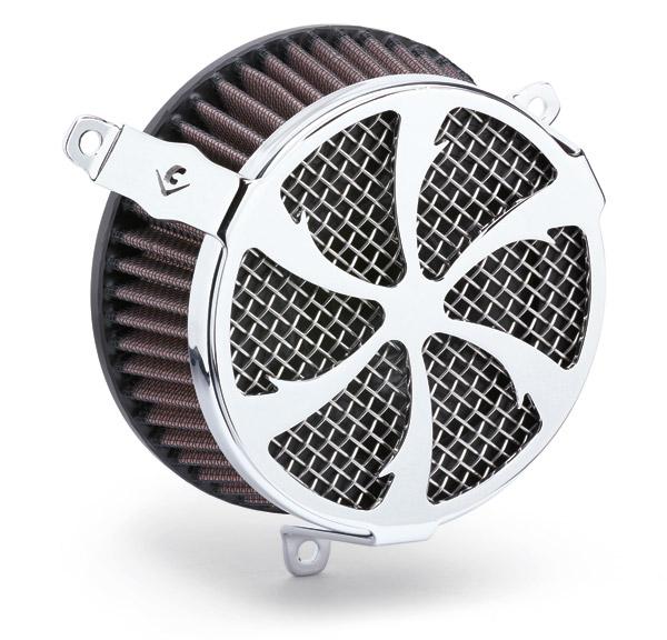 Cobra PowrFlo Air Cleaner Kit Chrome Swept