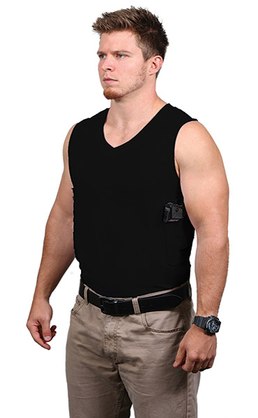 Ridge Footwear Men's Black V-Neck Packin' Tee