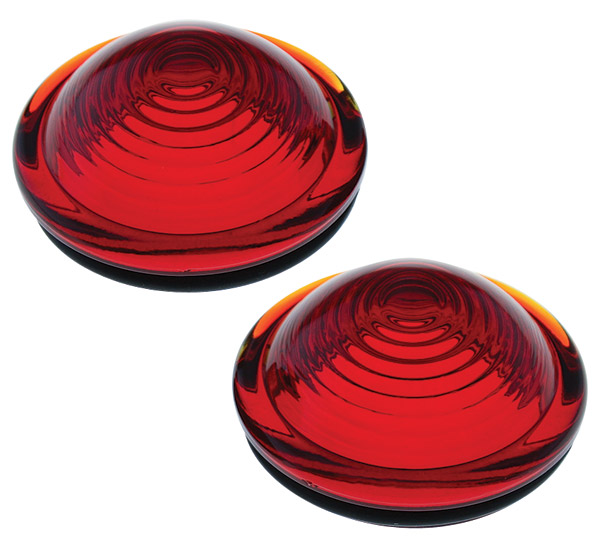 Auto-Gem Red Glass Bullseye Lens