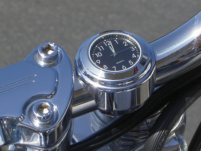 Riders Passion 1' Handlebar Mount Black Clock