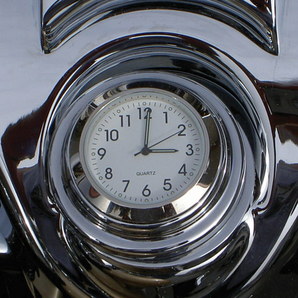 Riders Passion Road King Fork Lock White Clock