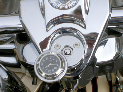 Riders Passion Road King Fork Lock Black Clock