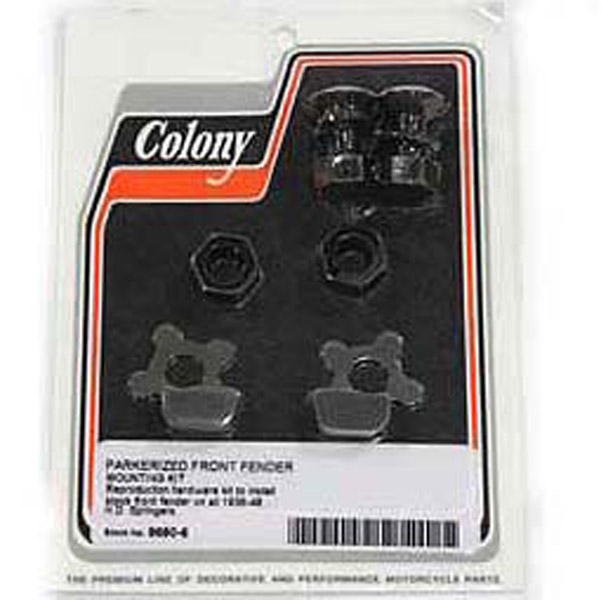 Colony Parkerized Front Fender Mount Kit