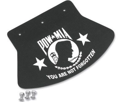 Medium Studded Mud Flap with POW-MIA Design