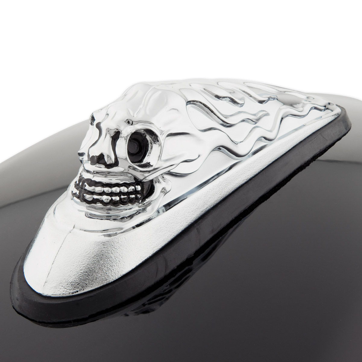 J&P Cycles® Skull head Front Fender Ornament