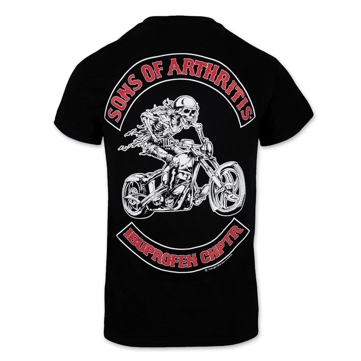 Sons of Arthritis Men's Ibuprofen Chapter Black T-Shirt