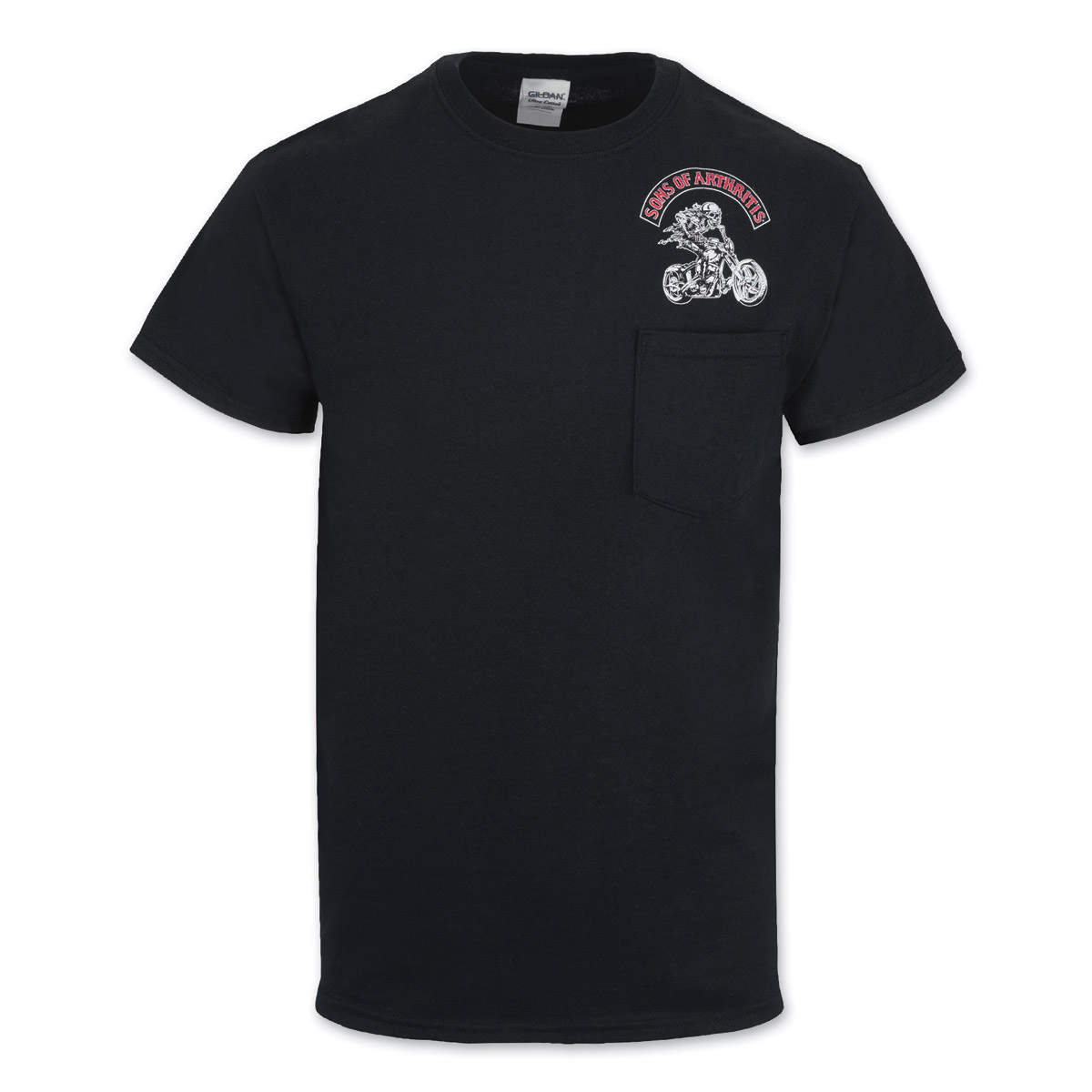 Sons of Arthritis Men's Ibuprofen Chptr Black Pocket T-shirt