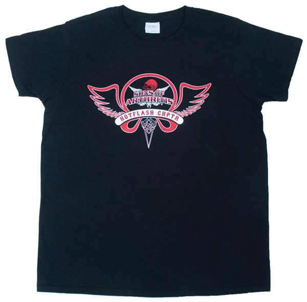 Sons of Arthritis Women's Hotflash Chapter Black with Red T-shirt