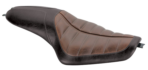 Roland Sands Design Black and Brown Enzo 2-Up Seat