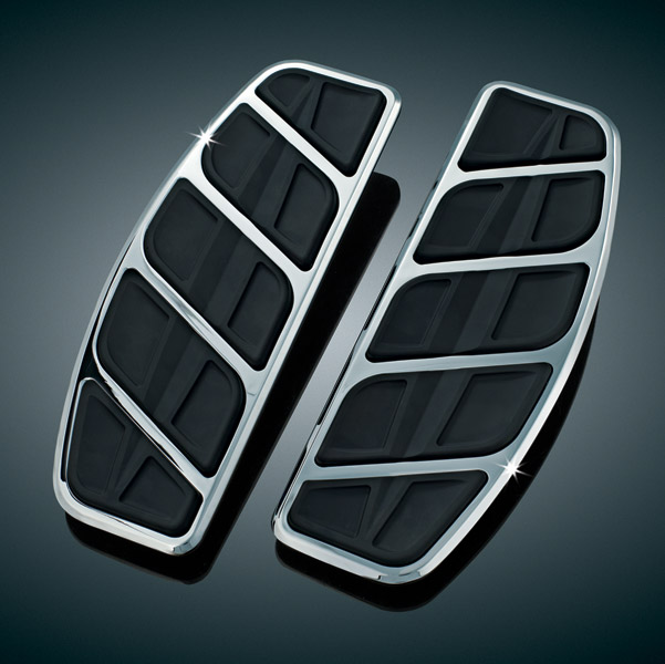 Kuryakyn Kinetic Chrome Traditional Driver Board Inserts
