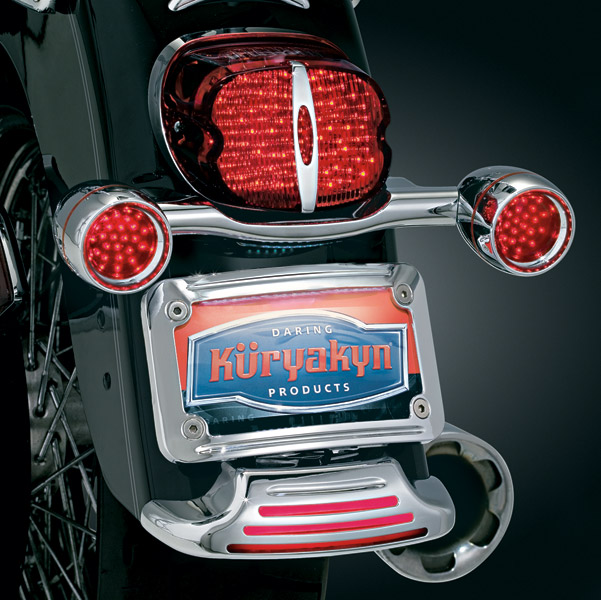 Kuryakyn Curved Fender Tip License Plate Mount