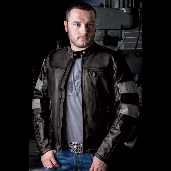 Roland Sands Design Ronin Black/Smoke Leather Jacket