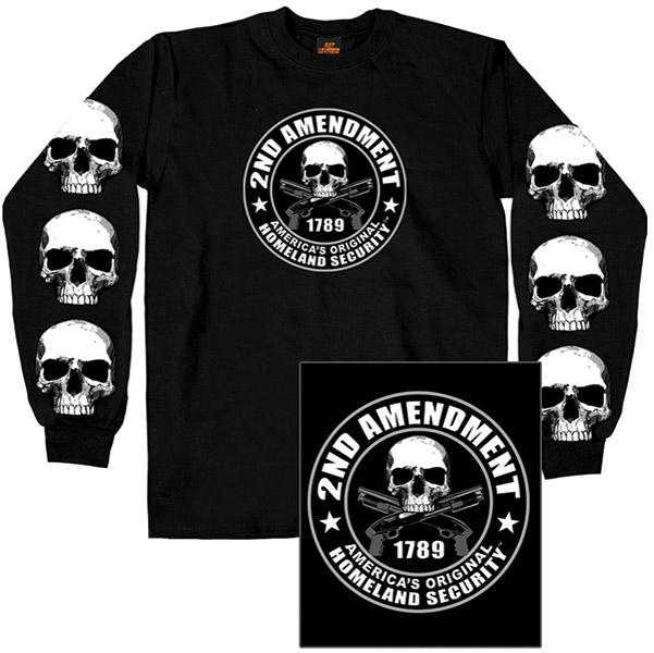 Hot Leathers 2nd Amendment Long-Sleeve T-shirt