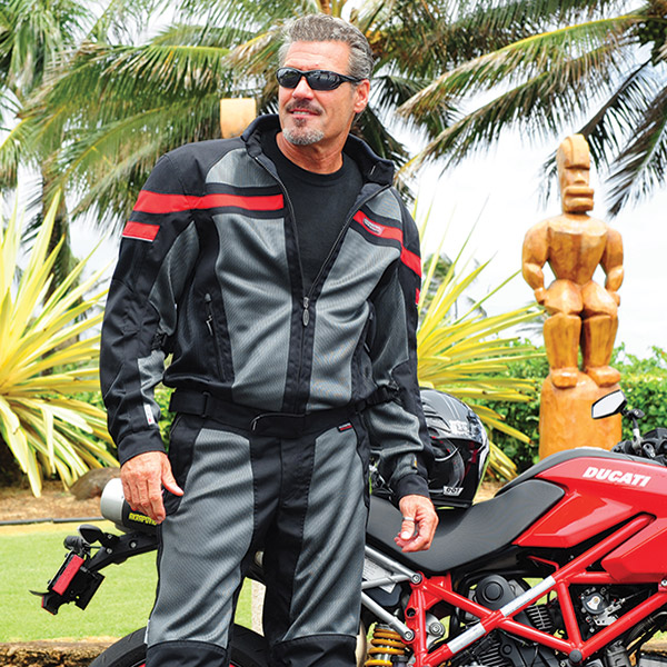Olympia Moto Sports Renegade Mesh Tech Red Jacket