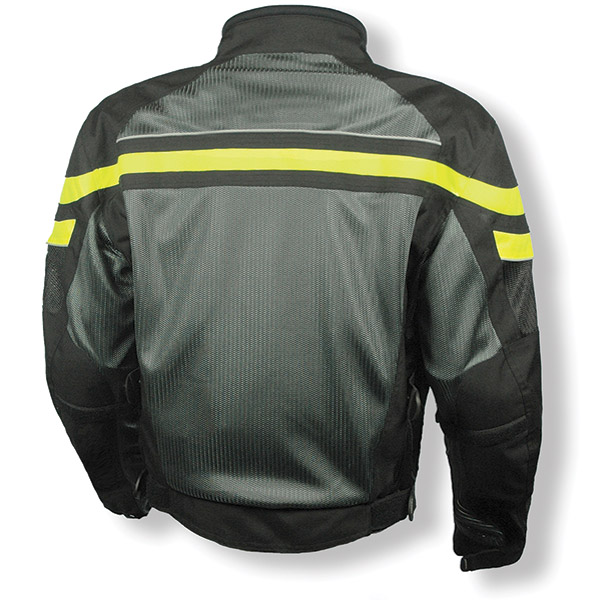Olympia Moto Sports Renegade Mesh Tech Neon Yellow Jacket