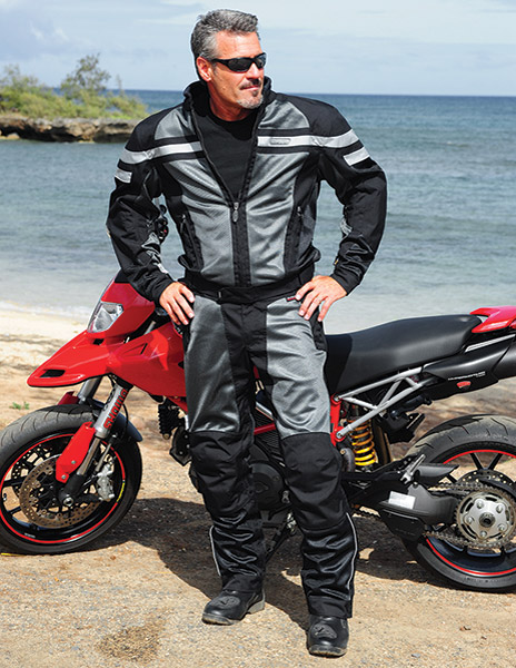 Olympia Moto Sports Renegade Mesh Tech Black Jacket