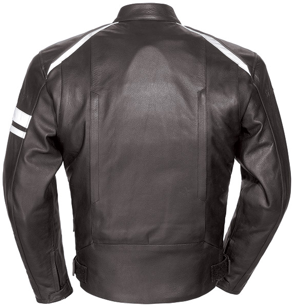 Tour Master Coaster 3 Men's Black/White Leather Jacket