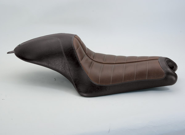 Roland Sands Design Black and Brown Enzo Cafe Seat
