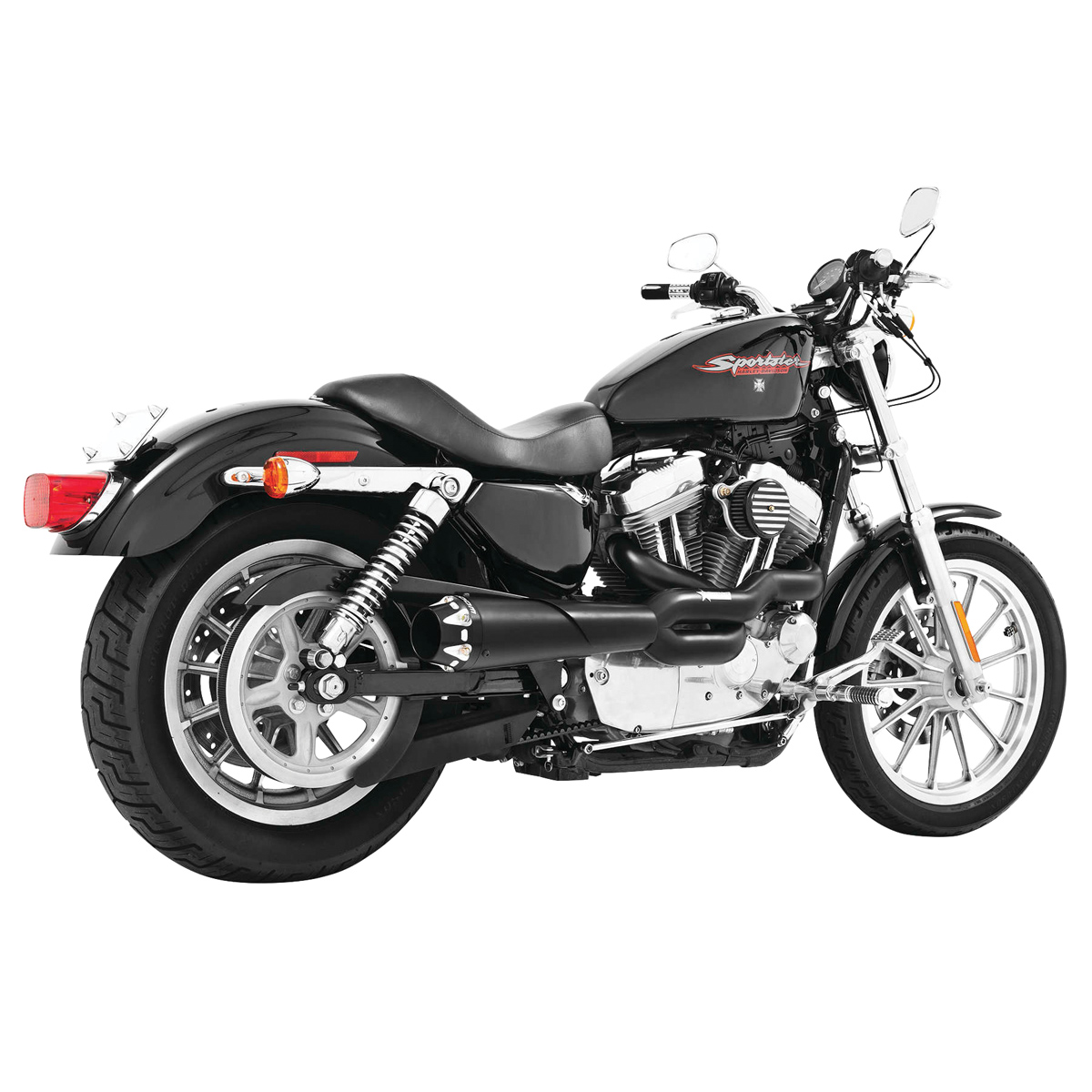 Freedom Performance Exhaust American Outlaw 2-1 Black Exhaust - HD00298
