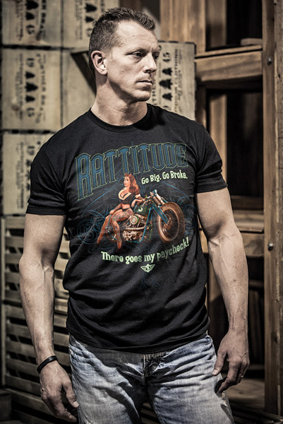 Chapter 13 Men's Rat Bike Black T-Shirt