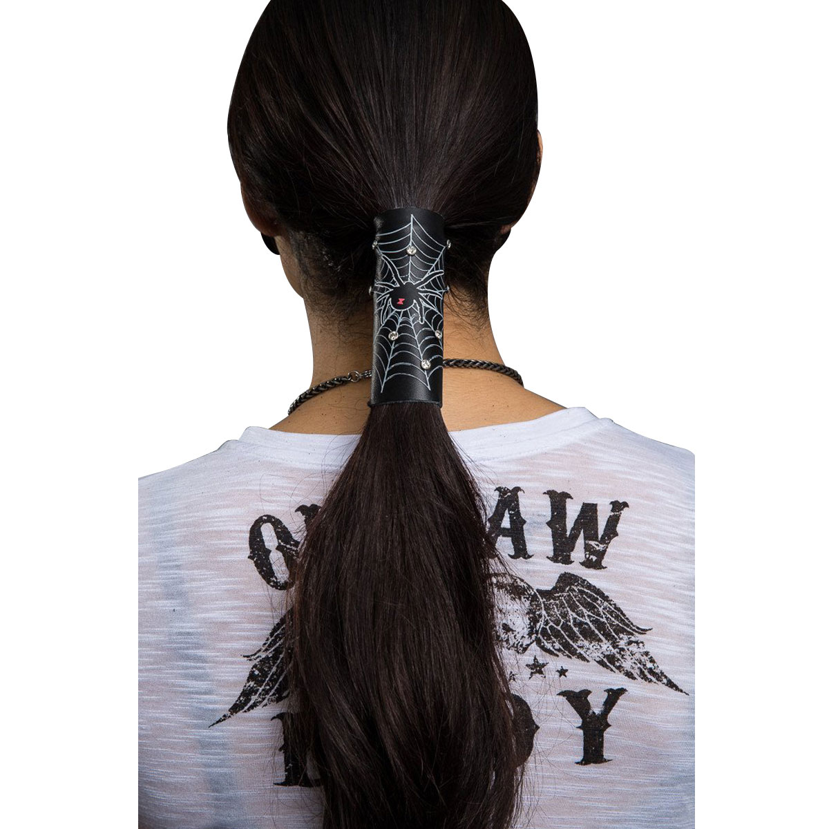 Hair Glove Spider Web & Rhinestones Hair Glove