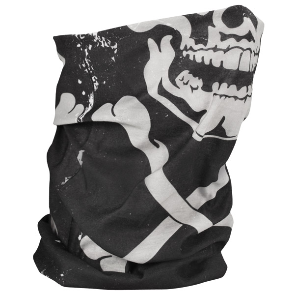 ZAN headgear Fleece Lined Skull & Crossbones Motley Tube