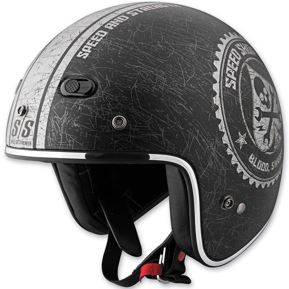 Speed and Strength SS600 Speed Shop Black Open Face Helmet