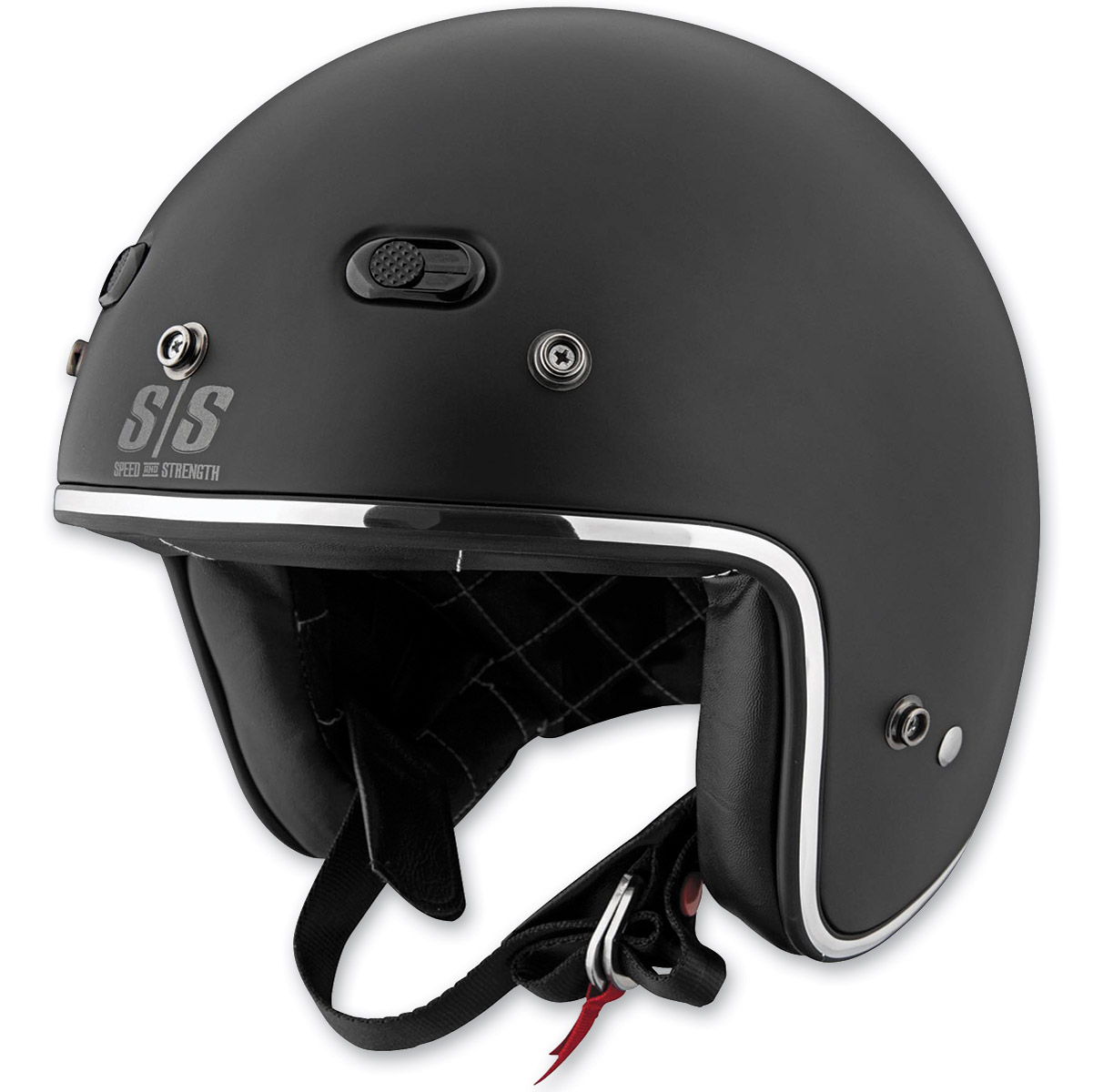 Speed and Strength SS600 Back in Black Open Face Helmet