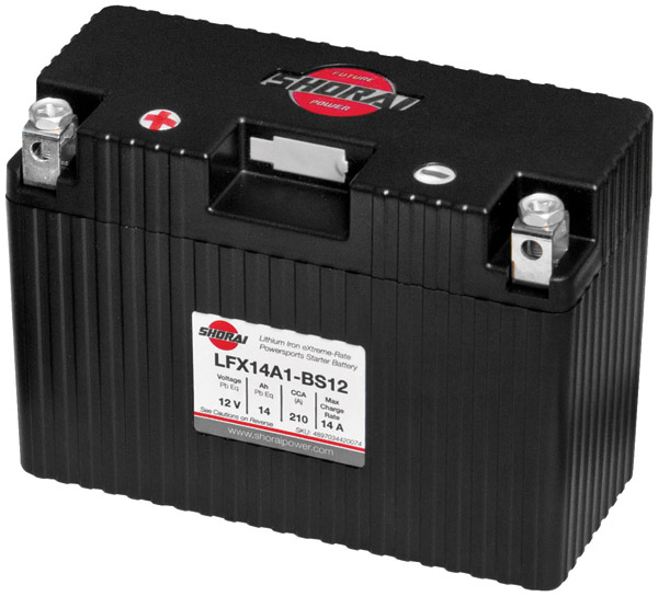 Shorai Xtreme-Rate LifePO4 LFX Lithium Standard Battery