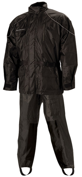 Nelson-Rigg AS-3000 Aston Black 2-piece Rain Suit