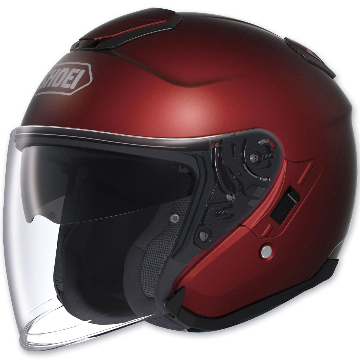 Shoei J-Cruise Open Face Wine Red Helmet