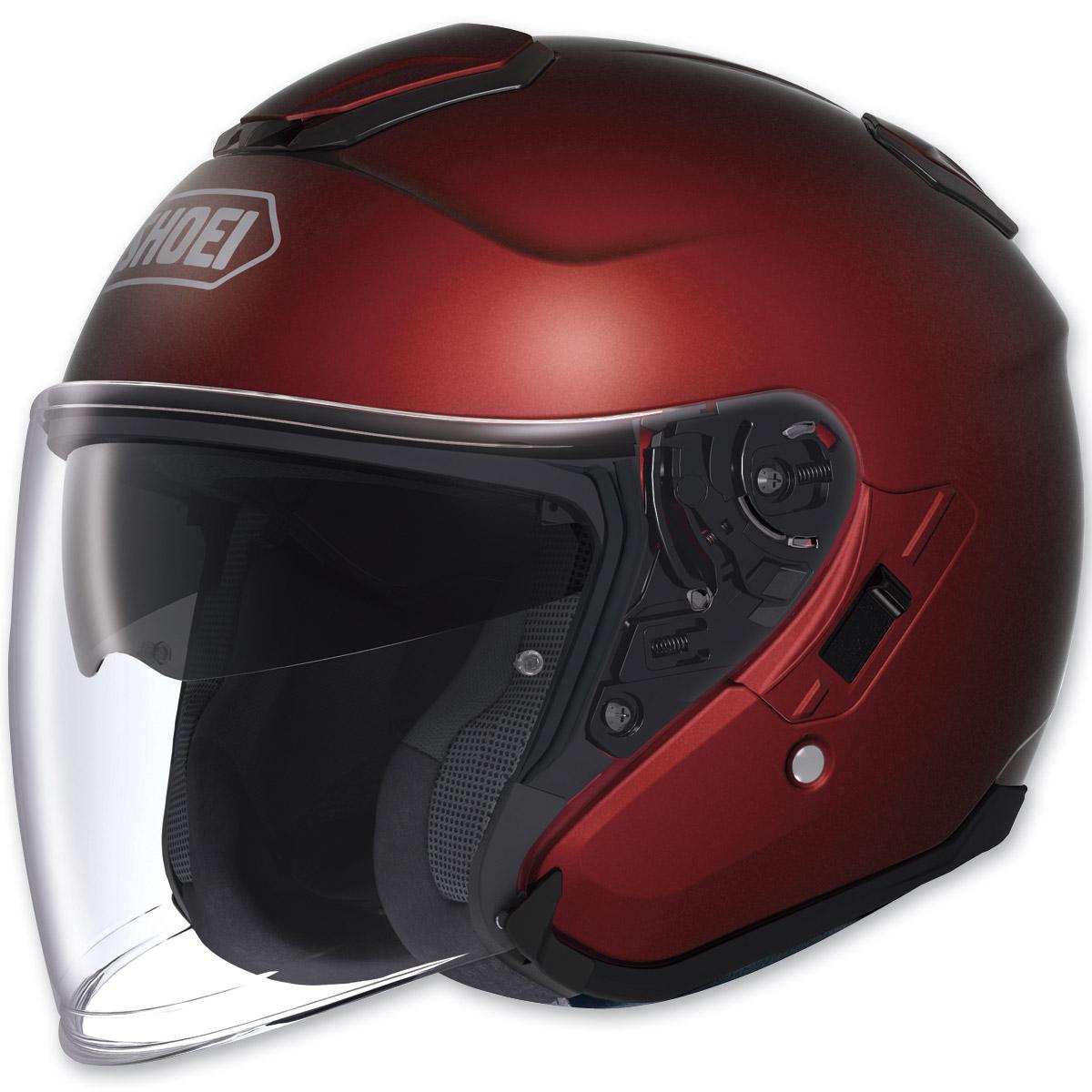 Shoei J-Cruise Open Face Wine Red Helmet
