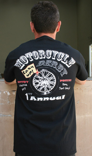 Crank & Stroker Supply Motorcycle Derby T-shirt