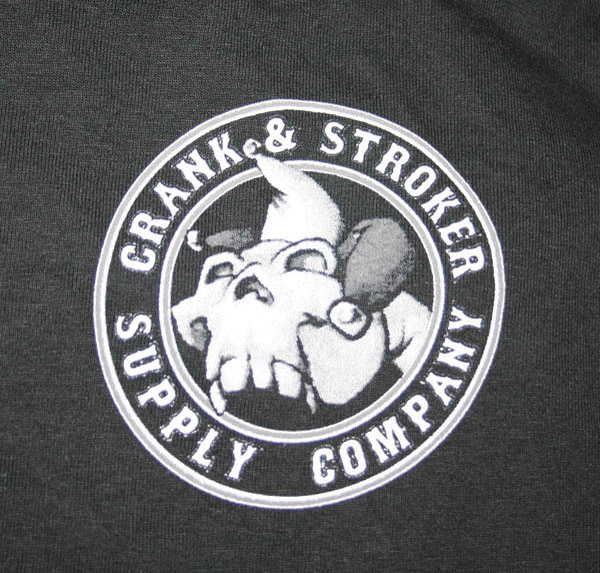 Crank & Stroker Supply Men's Joker Black T-shirt