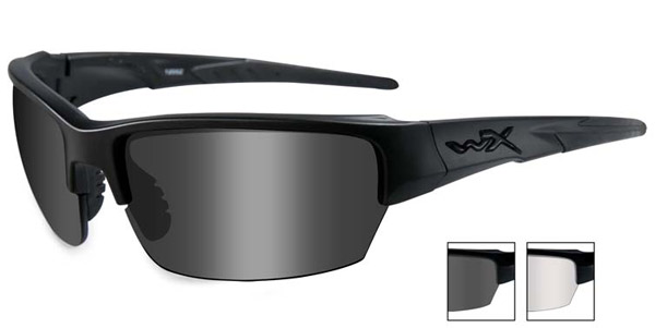 Wiley X WX Saint Smoke Gray/Clear Lens w/Matte Black Sunglasses