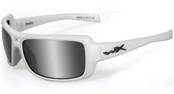 Wiley X Static Silver Flash Lens with Pearl White Frame Sunglasses