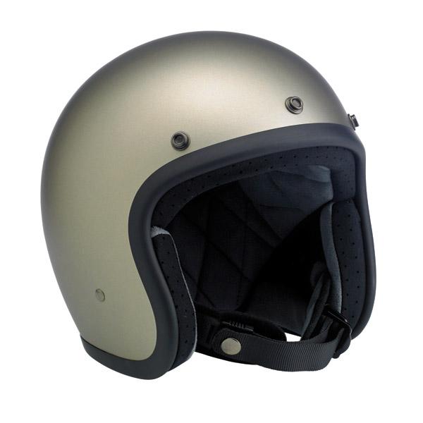 Biltwell Inc. Bonanza 3/4 Flat Titanium Open Face Helmet