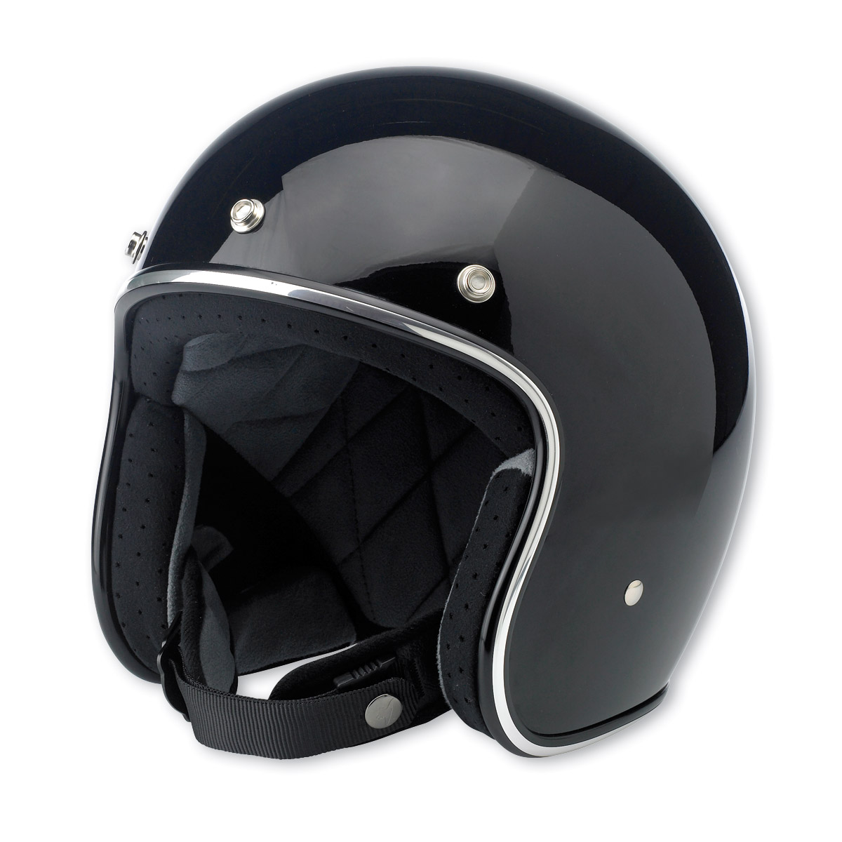 Biltwell Inc. Bonanza 3/4 Gloss Black Open Face Helmet