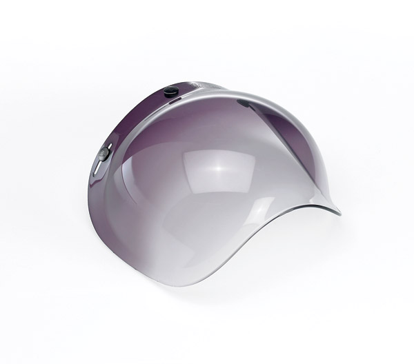 Biltwell Inc. Gradient Smoke 3-snap Bubble Shield