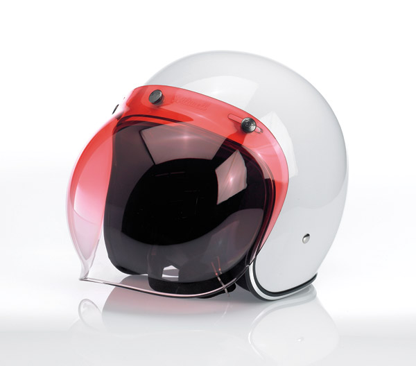 Biltwell Inc. Gradient Red 3-snap Bubble Shield