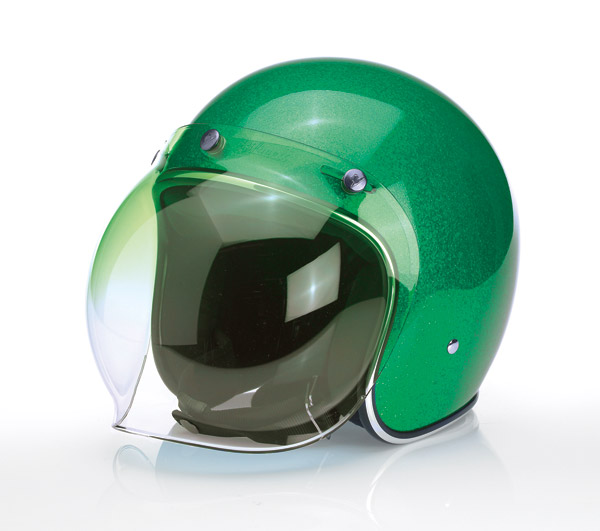 Biltwell Inc. Gradient Green 3-snap Bubble Shield