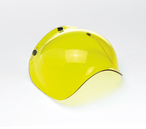 Biltwell Inc. Yellow 3-snap Bubble Shield