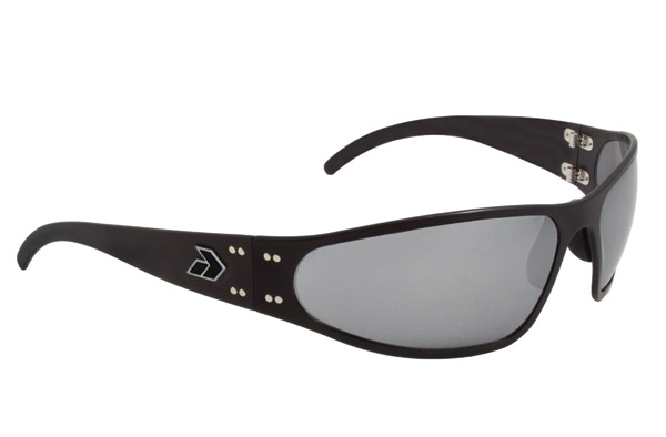 Gatorz Wraptor Black Frame with Gray Chrome Lens Sunglasses
