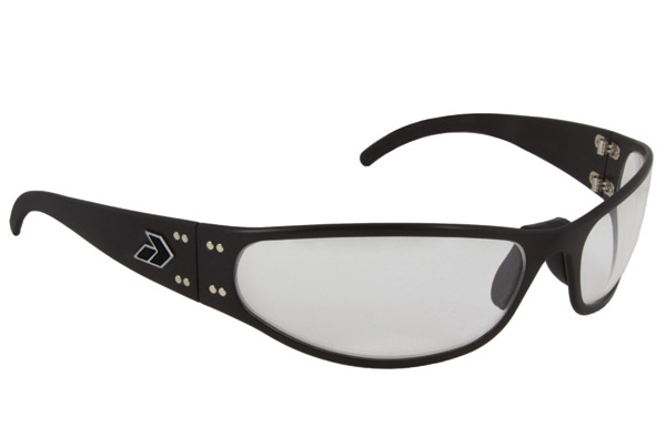 Gatorz Wraptor Black Frame with Clear Lens Sunglasses