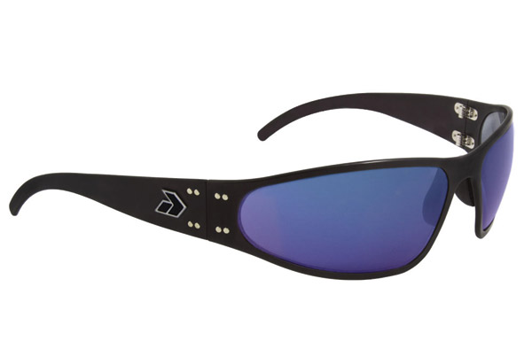 Gatorz Wraptor Black Frame with Blue Chrome Lens Sunglasses