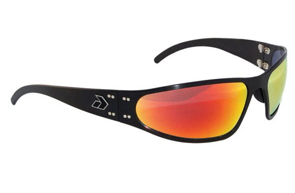 Gatorz Wraptor Black Frame with Sunburst Lens Sunglasses