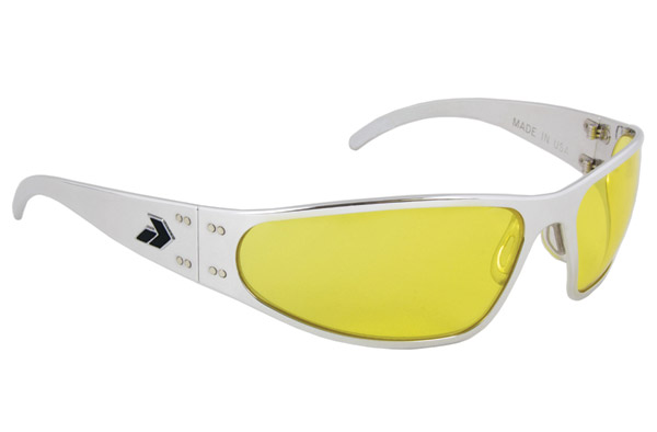 Gatorz Wraptor Polish Frame with Yellow Lens Sunglasses