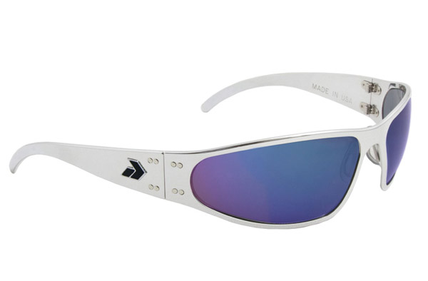 Gatorz Wraptor Polish Frame with Blue Chrome Lens Sunglasses