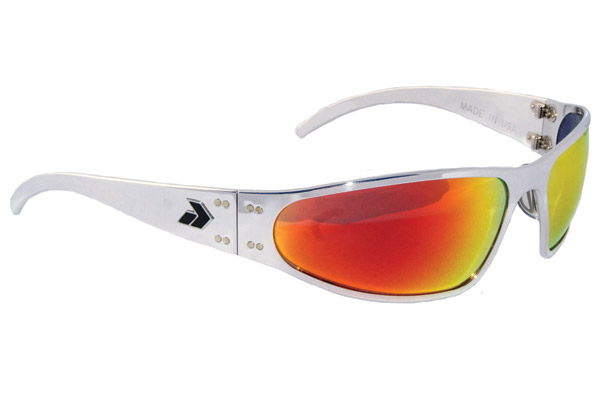 Gatorz Wraptor Polish Frame with Sunburst Lens Sunglasses